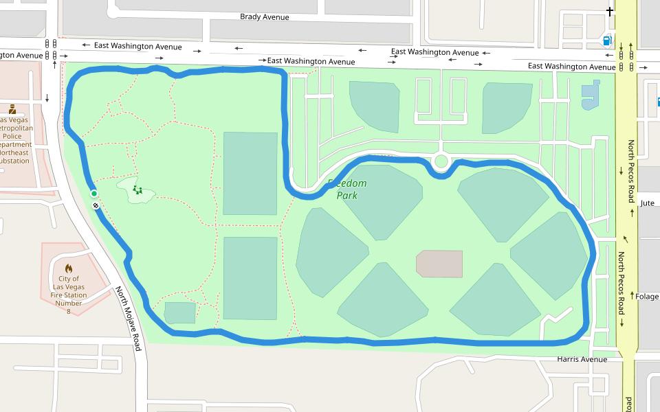 Parque De La Libertad Caminar Y Correr Las Vegas Nevada Estados Unidos Pacer