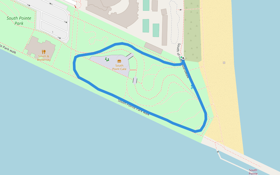 miami beach walking and running trail - florida, usa | pacer