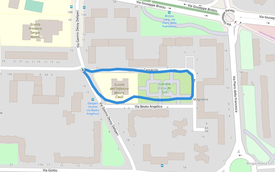 Cartina Geografica Di Cagliari.Giardini Circu De Soli Camminare E Correre Cagliari Citta Metropolitana Di Cagliari Italia Pacer