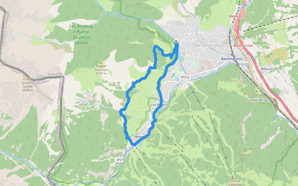 Bardonecchia Cartina Geografica.Passeggiata Del Canale Sentiero D Escursionismo Bardonecchia Provincia Di Torino Italia Pacer