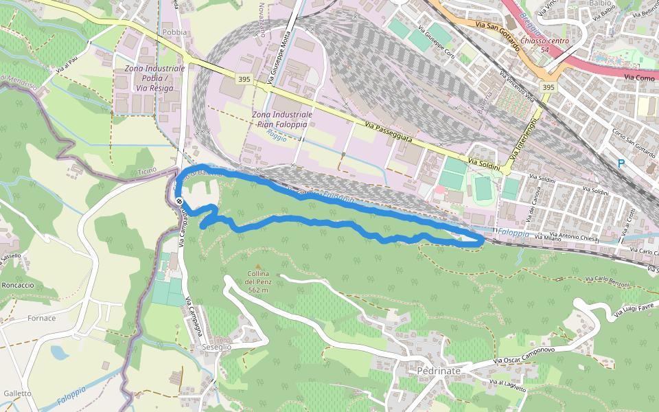Cartina Geografica Canton Ticino Svizzera.Collina Del Penz Sentiero D Escursionismo Pedrinate Canton Ticino Svizzera Pacer
