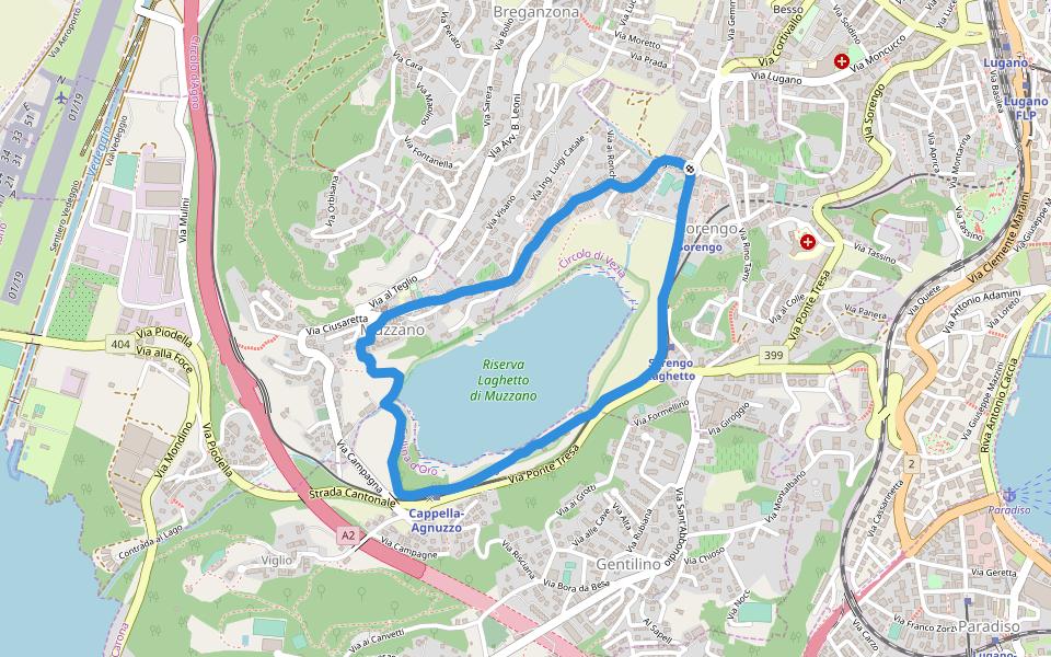 Cartina Canton Ticino Svizzera.Riserva Laghetto Di Muzzano Camminare E Correre Sorengo Canton Ticino Svizzera Pacer