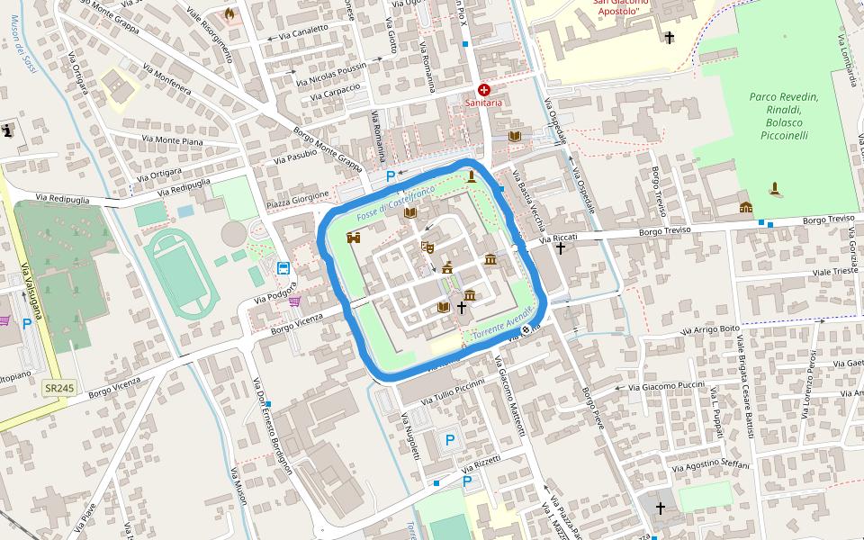 Piazza Aldo Fusinato Walking And Running Trail ...